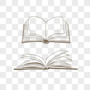 线条书本图片