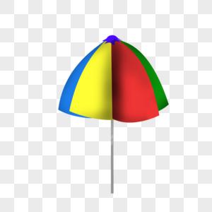 三色伞图片