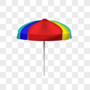 蓝色边框雨伞图片