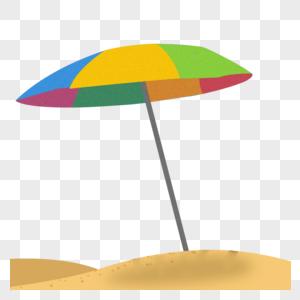 夏日度假海滩雨伞图片