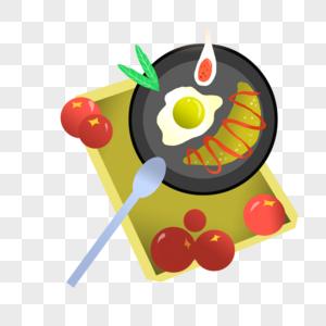 美味蓝莓煎鱼排图片