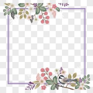 矢量小清新鲜花边框素材图片