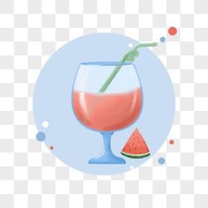 夏季冰爽西瓜汁图片