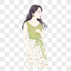 夏日连衣裙美女图片