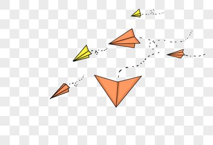 彩色纸飞机图片