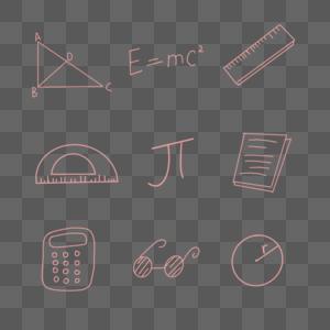 手绘数学背景图片