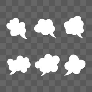 白云话语框图片
