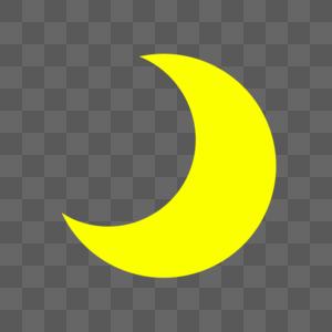 夜晚月亮天气图标图片