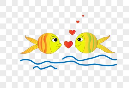 创意情人节情侣鱼图片