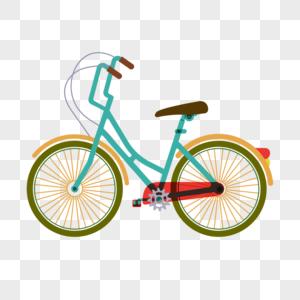 立夏自行车装饰素材图案图片