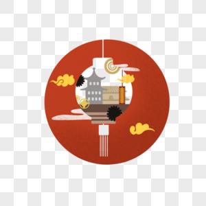 中国风圆形图标图片