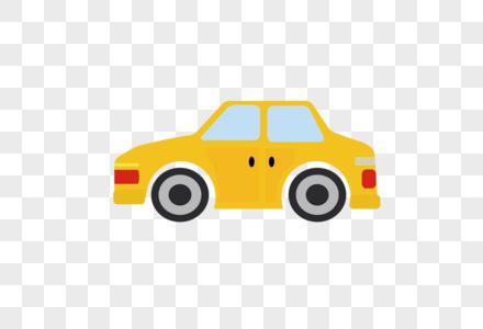 AI矢量图扁平化卡通可爱汽车图片