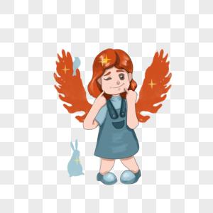 戴翅膀的女孩图片
