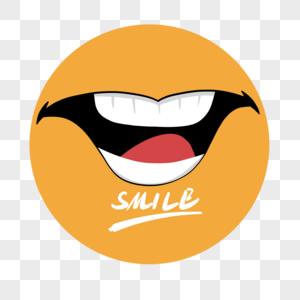 国际微笑日卡通手绘图片