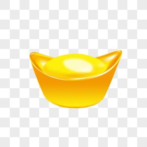 金黄色奢侈卡通元宝图片