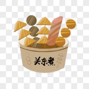 关东煮手绘插画图片