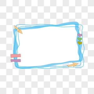 蓝色卡通可爱边框图片