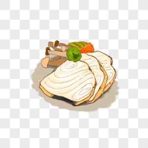 香煎鱼肉图片