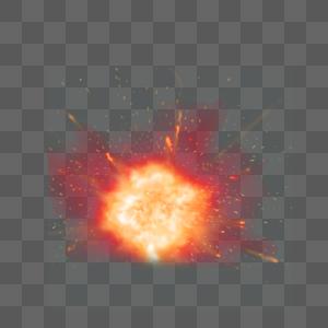 黄色爆炸特效图片