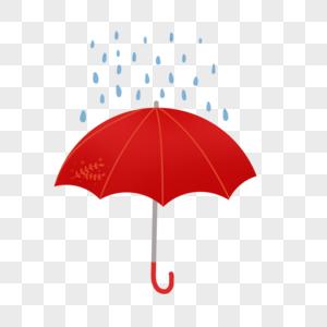 红色雨伞图片