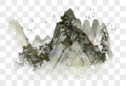 国画写意山水图片