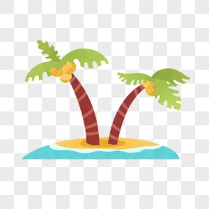 椰树海岛图片