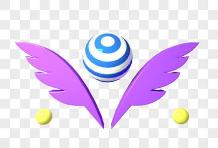 浅紫色翅膀背景图片