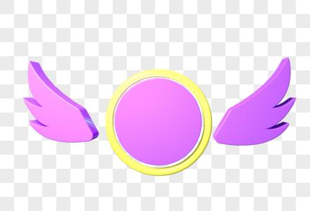 一双翅膀圆形背景图片