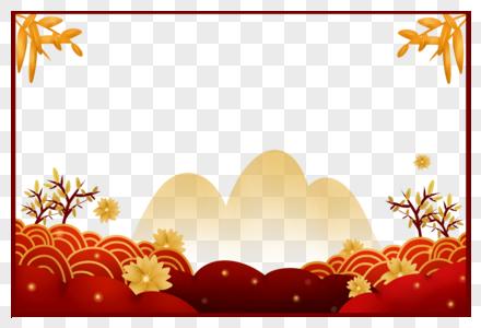 中国风竹叶边框图片