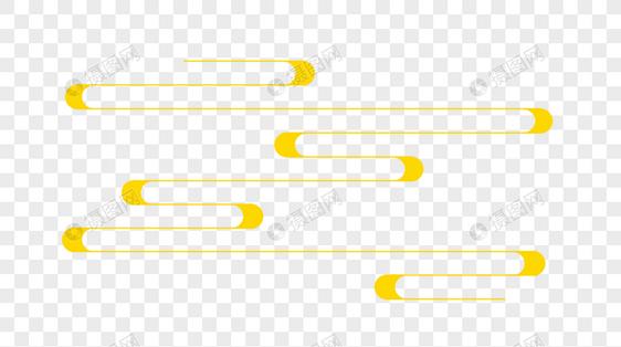 中国风金黄色线性云图片