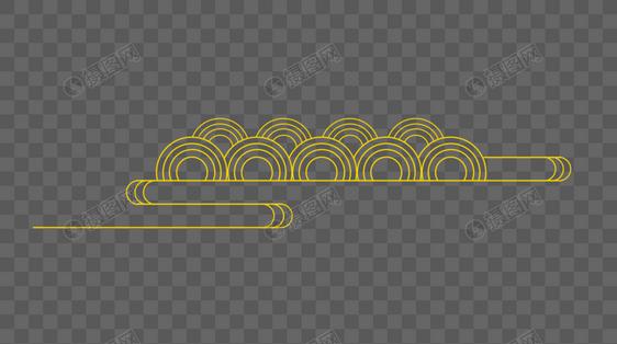 中国风金黄色线性云纹图片