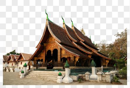 老挝琅勃拉邦寺庙图片
