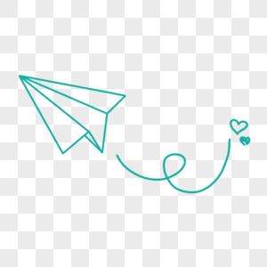 简约风纸飞机图片