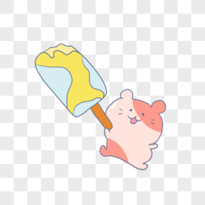 吃冰棒的老鼠图片
