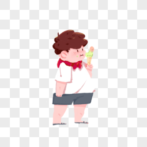 吃冰淇淋的小孩图片