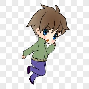 奔跑的男生图片