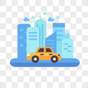 创意城市交通出行微场景图片