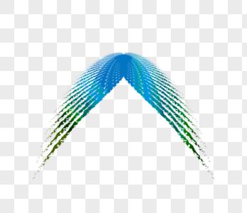炫彩波浪空间线条图片