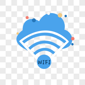 商务图标WIFI云元素图片
