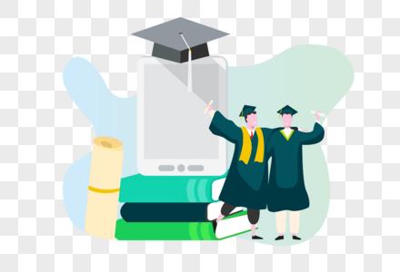 毕业的学生图片