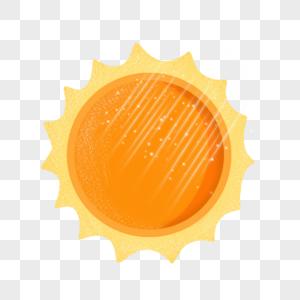 卡通金黄色太阳图片