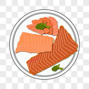 三文鱼料理食材图片