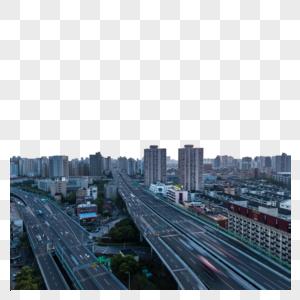 上海城市高架桥建筑风光图片