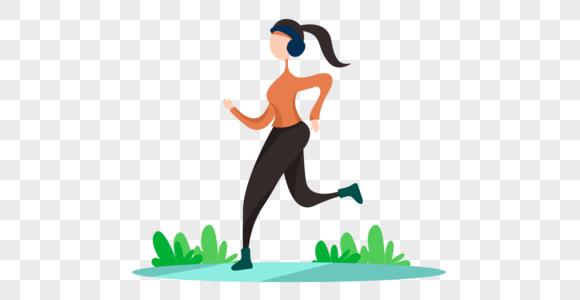 减肥运动晨跑美女图片