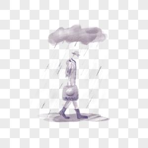 下雨雨天图片