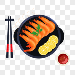 美味的大虾图片