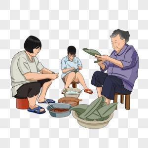 包粽子图片