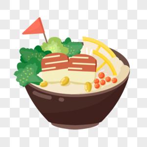 日本快餐海鲜盖饭海鲜虾鱼子鳗鱼芥末图片