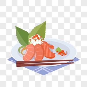 刺身日本快餐海鲜生鱼片海鲜虾鱼子鳗鱼芥末图片