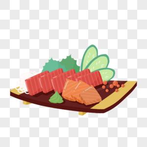 金枪鱼日本快餐海鲜生鱼片海鲜虾鱼子鳗鱼芥末图片